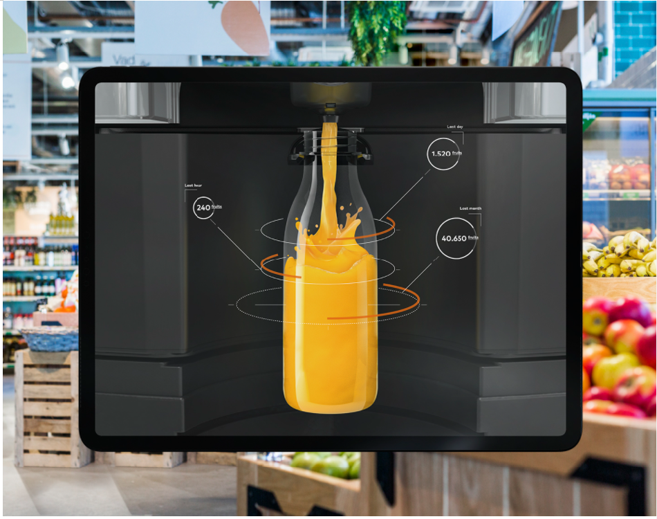 máquina de suco inteligente